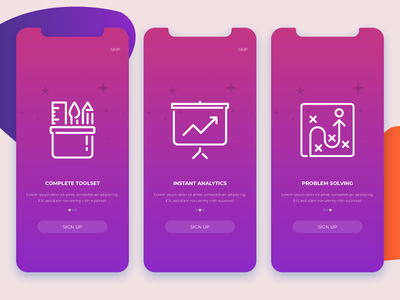 Onboarding apple material fluent custom fluid modern free freebie download rajat mehra india user experience ux user interface ui analytics monitoring business gradient icons graphics ios app design iphone x mockup