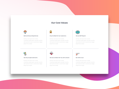 Values montserrat roboto google custom fashion bold rajat mehra india user experience ux user interface ui free freebie download gradients professional icons corporate branding booklet about us design web page layout