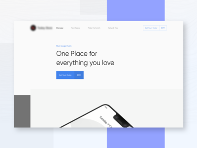 Landing Page for Technology Product