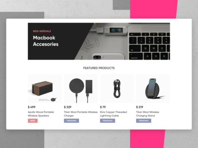 Products Module for E-Commerce Homepage
