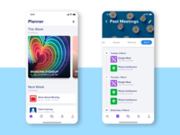 Planner for iPhone feed history calendar weekly planner flat app design rajat mehra design illustration ux user experience ui user interface icon design ios app