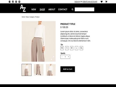 Amira Zee Collection - UX/UI Design ui ux clothing fashion zee amira