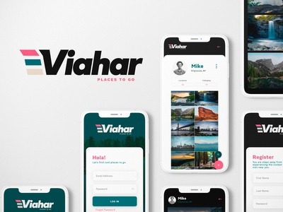 Viahar Project ux  ui concept travel app