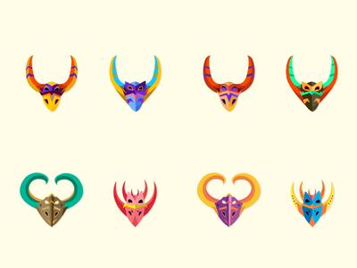 Mascaraos | Diablos Cajuelos illustrator dominicancarnaval flat diablos cajuelos