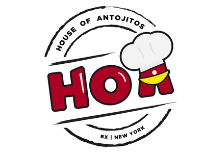 Hoa Logo bronx food brand brand antojitos hoa