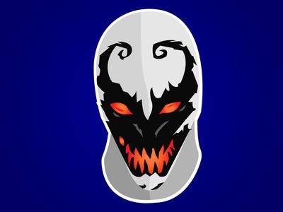 Anti-Venom Flat drodriguez illustration anti-venom venom cartoon flat  design