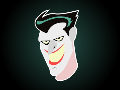 The Joker Flat joker thejoker batman vector illustration gradiant flat artwork
