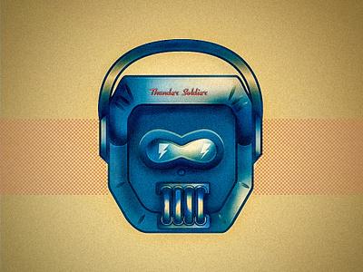 Thunder Soldier gradiant illustration artwork adobe illustrator cc soldier rusty metal illustration art