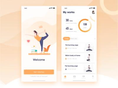 Yoga app practice