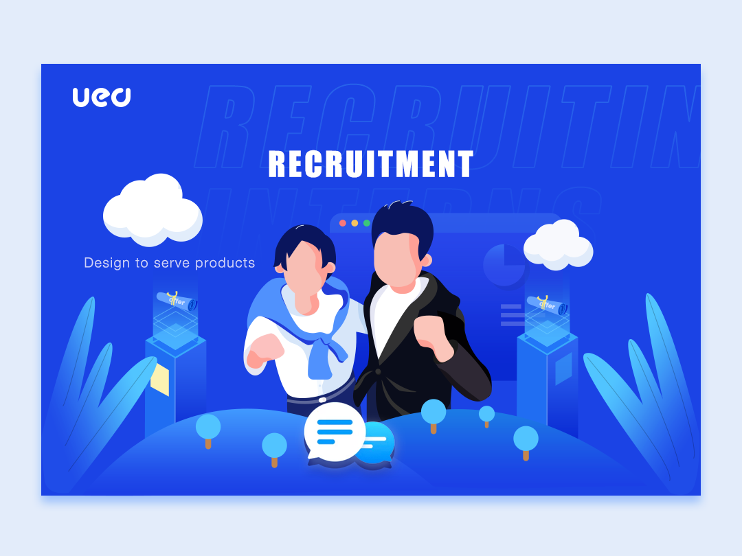 Recruitment web landing illustration