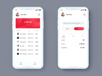 APP Red UI - Wallet Design