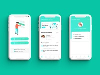 Hospital Care Worker App Design