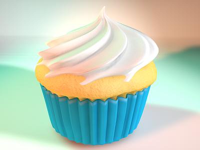 Cupcake cinema 4d cupcake