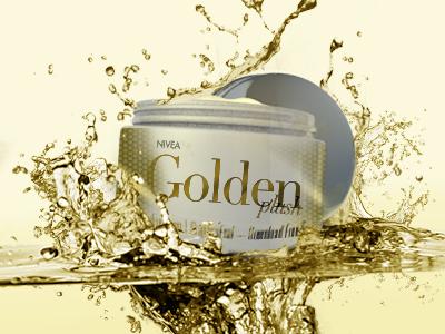 Cream cinema 4d gold draft product chrome water cream