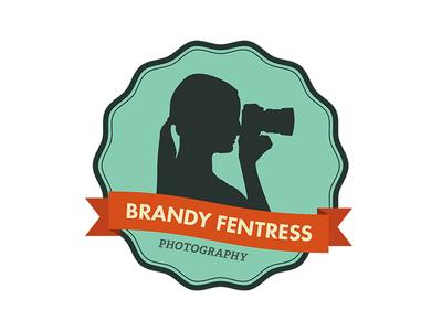 Brandy Fentress Photography logo identity seal ribbon futura