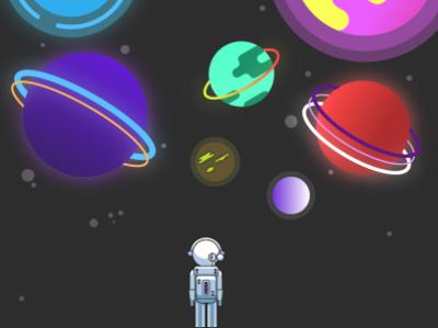 Spaceman flat minimal design vector illustration