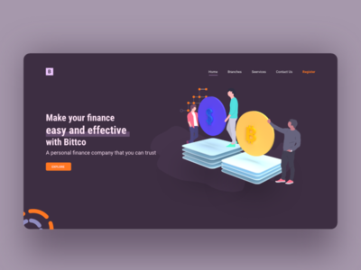 FINANCE LANDING PAGE currency adobexd landingpage landing webdesign website 2d ux ui finance