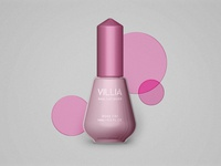 Villia nail lacquer bottle
