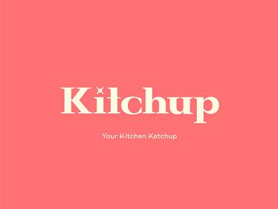 Kitchup logo with a tagline type logo design type design logoinspiration typography logotype design graphic vector logo branding brand identity graphic design