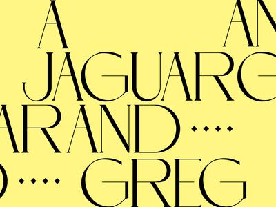 A Jaguar And Greg visual identity