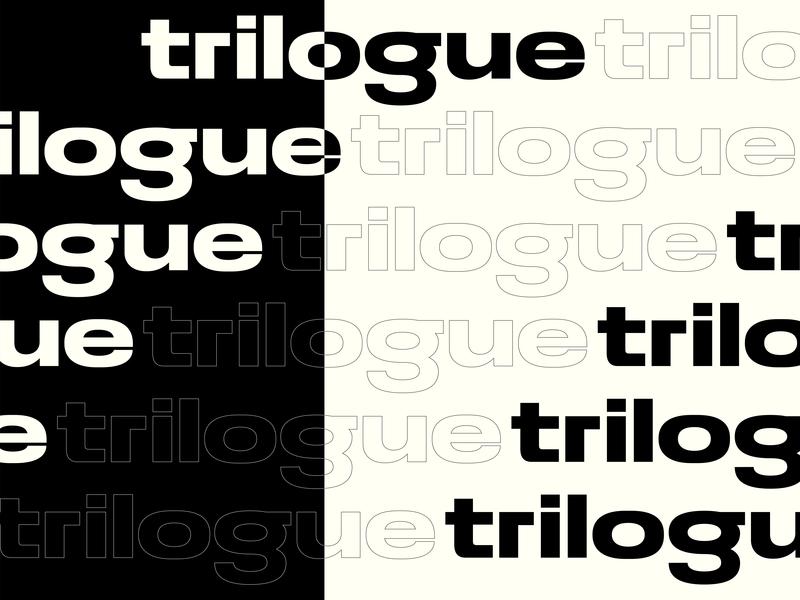 Trilouge's art direction letters typo 2019 design trend 2019 trend art direction logo design type design graphic designer logotype typography logo graphic design graphic design