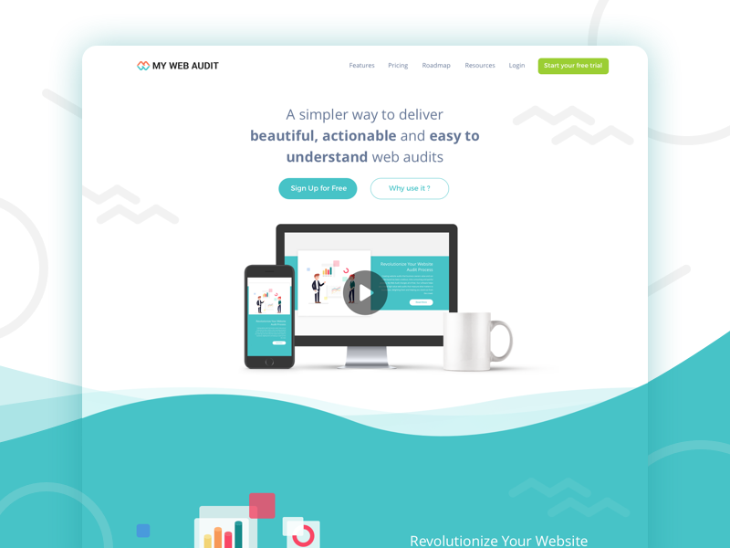 Dribbble shot mywebaudit
