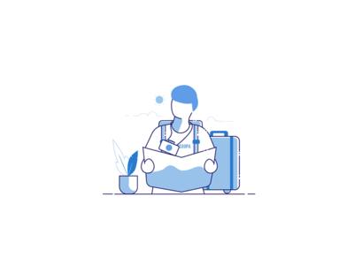 Illustration for a travel startup