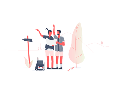 Let's go on a trip! holidays backpacker illustration backpacking travel