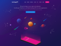 Astrology Landing Page with Illustrations