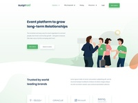 Landing Page with Illustrations