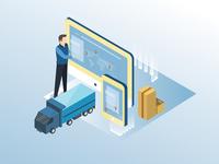 Logistic Company Illustration