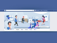 Facebook Header Illustration