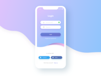 Mobile Log In Screen