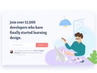 Design Academy Landing Page Illustration