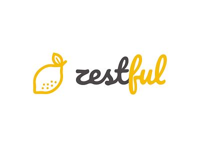 Zestful Logo Design lemon yellow logo design design graphic illustration manypixels