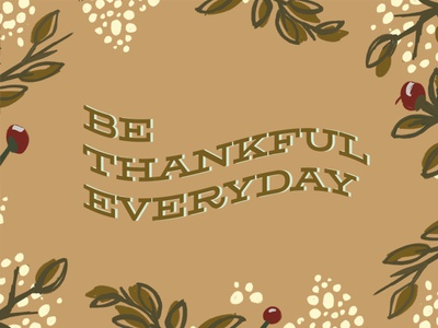 Thankful Illustration