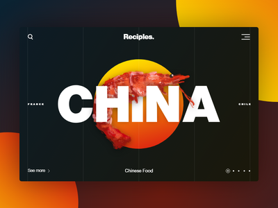 China – Reciples Project handdrawn shrimp recipe chinese cuisine food