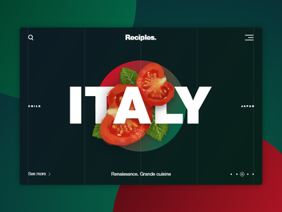 Italy – Reciples Project handdrawn red tomato food ethnic italy cuisine