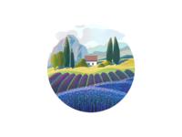 Wine Label Illustration 1