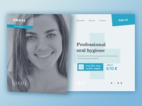 Main Page First Screen – Dentistry