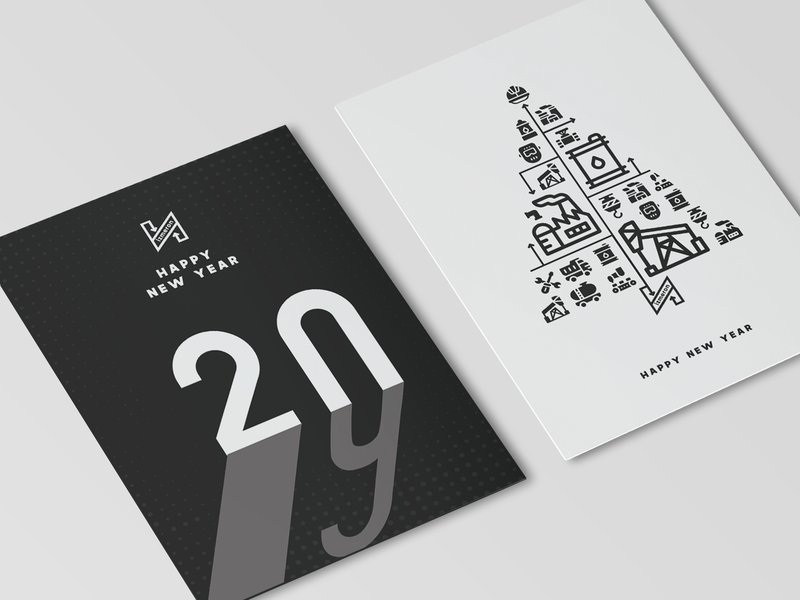 New Year Card corporate style branded content izmeron new year new year card card refinery oil 2019 hny