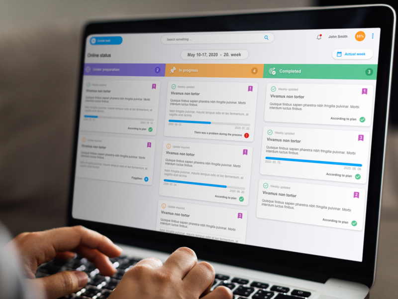Status app - task manager administrative typography app tegri uxdesign uidesign uiux task manager status