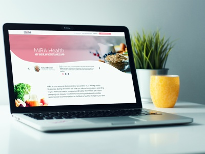 Mira - Landing page - homepage design branding landing  page uidesign mira elotta tegri