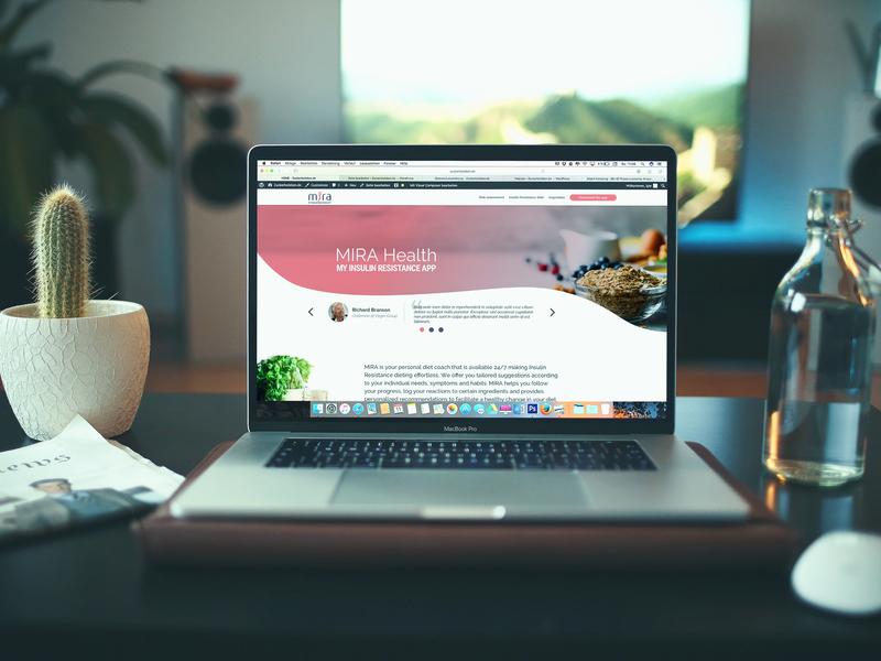 Mira - Landing page - homepage design landing  page ui uidesign tegri elotta branding