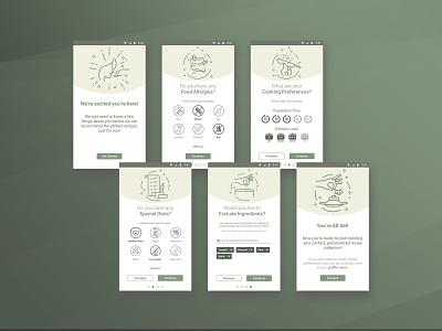 Onboarding - Nutrition app onboarding nutrition app branding design uidesign