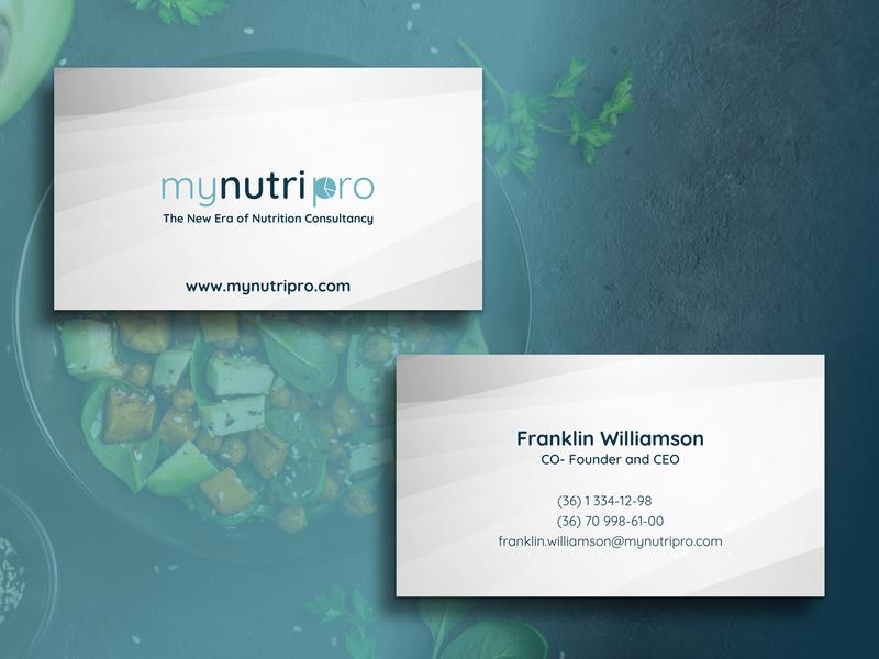 Business Card nutrition ui logo app dashboard design typography tegri uidesign branding