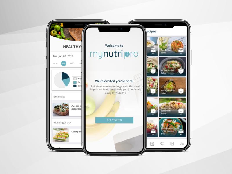 Healthy recipe app uidesign typography illustration ui nutrition landing  page tegri design branding