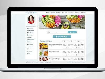 Healthy app - Recipe ux typography design nutrition ui app app dashboard tegri uidesign branding
