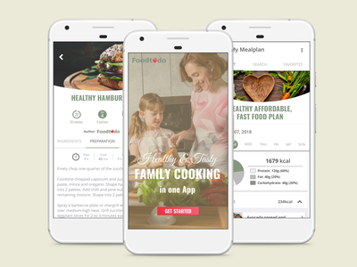 Family cooking app recipe app typography vector app tegri design uidesign branding