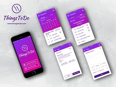 ToDo app screens to do uidesign app ui typography logo tegri design branding